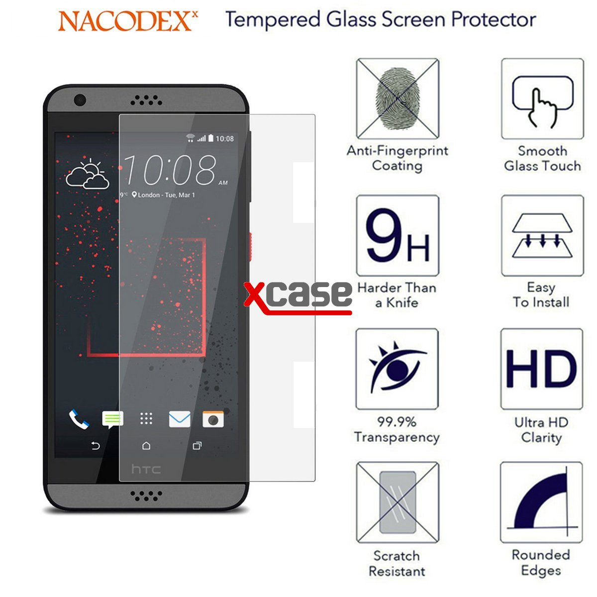 October 2014 olixar htc desire 530 630 tempered glass screen protector off and